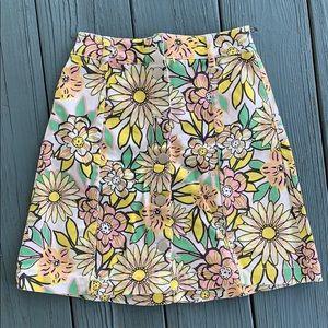H&M spring/summer flower print jean skirt